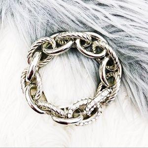 INC • Chain Link Embellished Stretch Bracelet